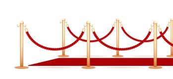 Corda della barriera Fotografie Stock