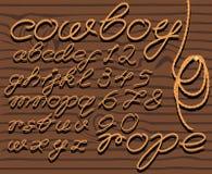 Corda della fonte tipografica Immagine Stock