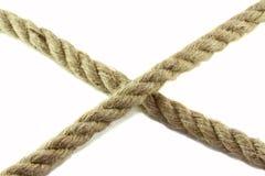 Corda della iuta su un fondo bianco immagine stock libera da diritti