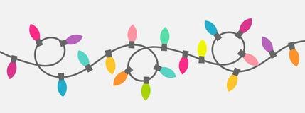 Corda delle luci di Natale illustrazione vettoriale