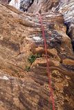 Corda di Canyoneering Fotografia Stock Libera da Diritti