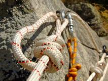 Corda di canyoning Fotografie Stock Libere da Diritti