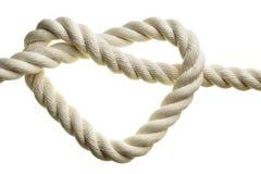 Corda di figura del cuore Immagine Stock