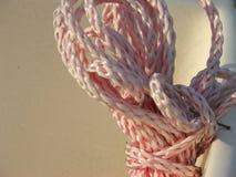 Corda di nylon arrotolata Immagini Stock Libere da Diritti