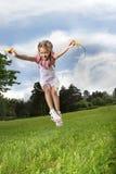 Corda di salto Fotografia Stock