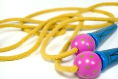 Corda di salto di Childs Fotografie Stock