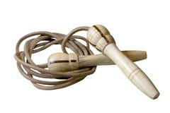 Corda di salto di cuoio Fotografia Stock