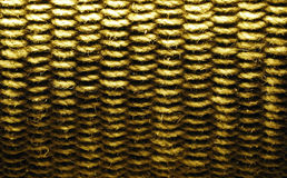 Corda di vimini della parete Fotografia Stock