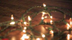 Corda do borrão das luzes brancas vídeos de arquivo