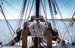 Corda do navio do galeão fotos de stock