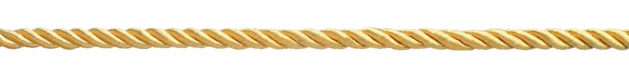 Corda dorata immagini stock