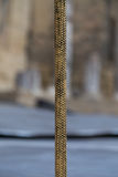 Corda dorata nella fase del teatro Fotografie Stock