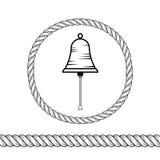 Corda e campana Immagine Stock