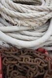 Corda e catena Immagini Stock