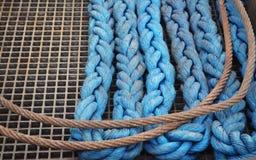 Corda e cavo blu Fotografie Stock Libere da Diritti