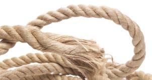 Corda e nodo della nave isolati Immagini Stock Libere da Diritti