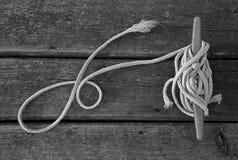 Corda e textura da doca Foto de Stock