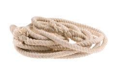 Corda grossa torcida no branco Foto de Stock