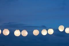Corda--luzes Foto de Stock