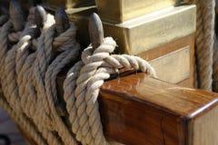 Corda marinha velha imagem de stock