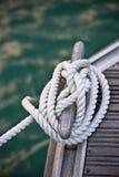 Corda nautica di attracco fotografia stock