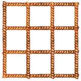 Corda Quadrato delle corde Illustrazione dell'acquerello royalty illustrazione gratis