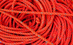 Corda rossa Fotografia Stock Libera da Diritti
