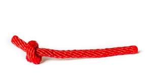 Corda rossa Fotografia Stock