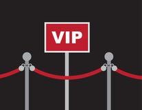 Corda rossa del segno di VIP Fotografia Stock
