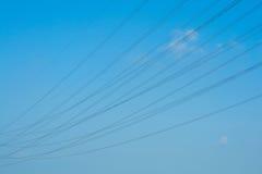 Corda sopra il cielo blu Fotografia Stock Libera da Diritti