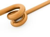 Corda a spirale arancio astratta resa Fotografia Stock