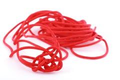 Corda vermelha fotografia de stock