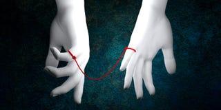 Corda vermelha do destino ilustração do vetor