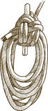 Cordage. Vector drawing of a fragment of a rigging of a sailing vessel Royalty Free Stock Image