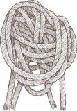 Cordage. Vector drawing of the fragment of the vessel cordage Royalty Free Stock Images