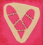 Cordas 01 do coração Fotografia de Stock Royalty Free