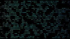 Cordas azuis cianas que movem da esquerda para a direita - a animação do fundo ilustração royalty free