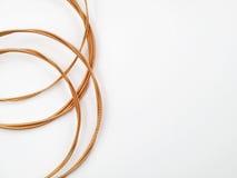 Cordas Coiled da guitarra acústica Imagens de Stock