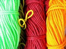 Cordas coloridas fotografia de stock royalty free