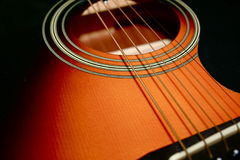 Cordas da guitarra Foto de Stock