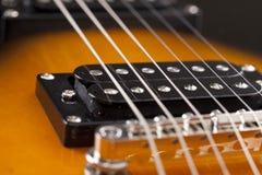 Cordas da guitarra imagem de stock