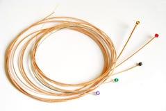 Cordas da guitarra acústica Foto de Stock Royalty Free