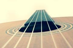 Cordas da guitarra, fim acima Fotografia de Stock