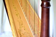 Cordas da harpa do pedal, close up Foto de Stock Royalty Free