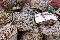 Cordas da pesca Imagens de Stock Royalty Free