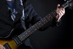 Cordas da potência da guitarra Fotos de Stock