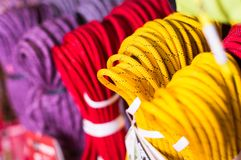 Cordas de escalada para escalar foto de stock royalty free