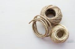 Cordas diferentes no fundo branco Fotografia de Stock Royalty Free