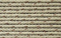 Cordas do navio como a textura do fundo Fotografia de Stock