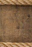 Cordas do navio na madeira Imagem de Stock